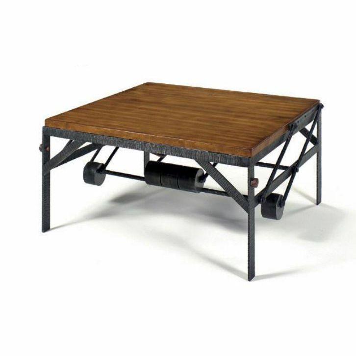 Table Basse Contemporaine En Bois Carrée Transformable