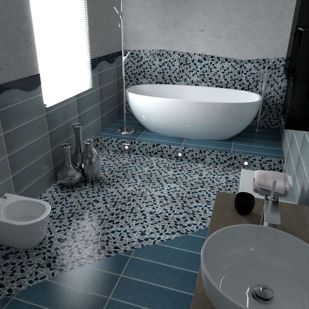 Carrelage de salle de bain - CRAKL.È ONDA - Acquario Due - mural