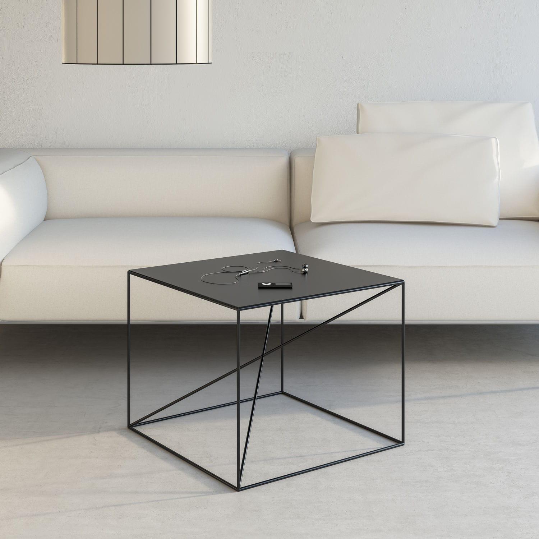 Table Basse Design Minimaliste En Acier A Revetement Par