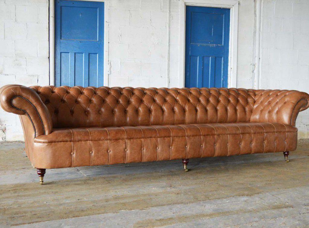 vente chaude en ligne 1ce2d 074a2 Canapé chesterfield / en cuir / 5 places / 6 places - GRANDE ...