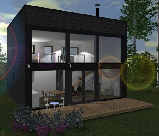 Maison Prefabriquee Cube 88 Polar Life Haus Contemporaine A Ossature Bois En Verre
