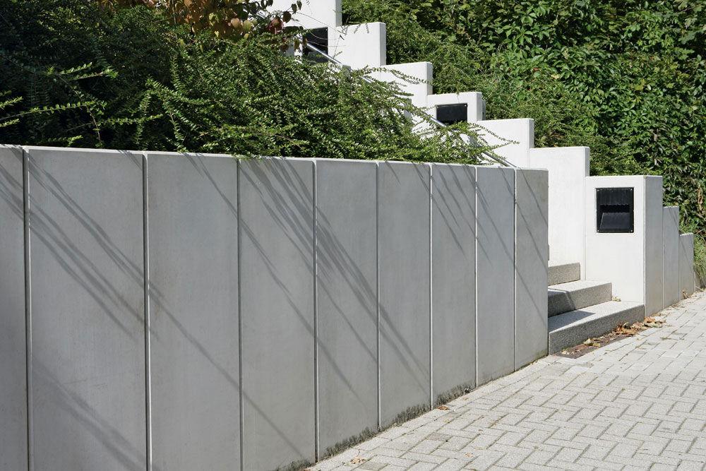 Bloc de béton plein / pour mur / pour clôture de jardin - L - UHL