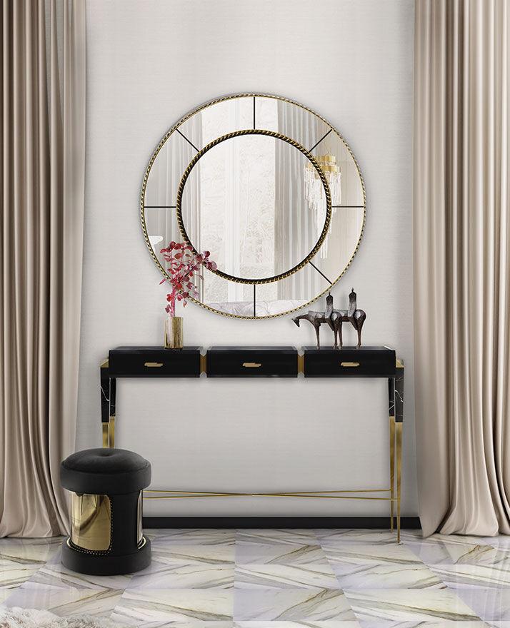 Miroir mural / de salon / de chambre à coucher / contemporain ...