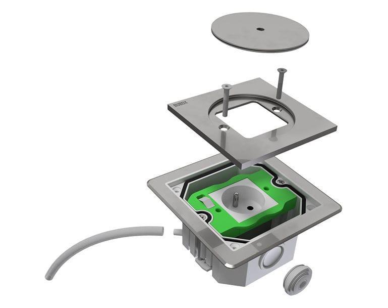 Boîtier électrique au sol / à encastrer / pour prise de courant - BUBOX SYSTEMS sprl