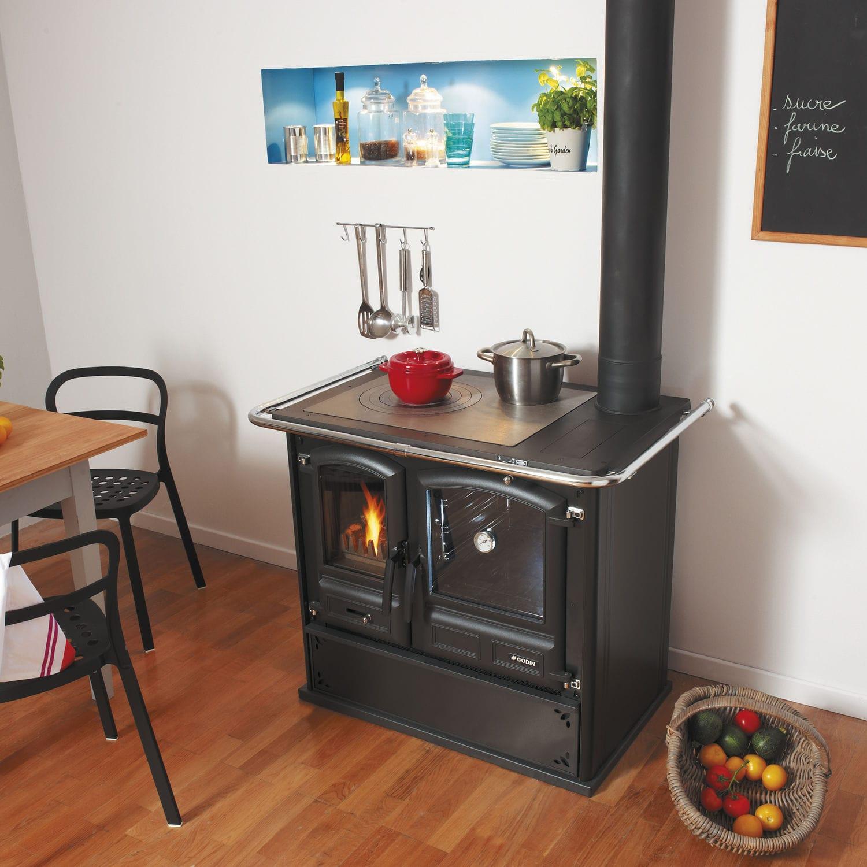 Piano De Cuisson Gaz Et Bois cuisinière à bois / pour chaudière - promes - godin export