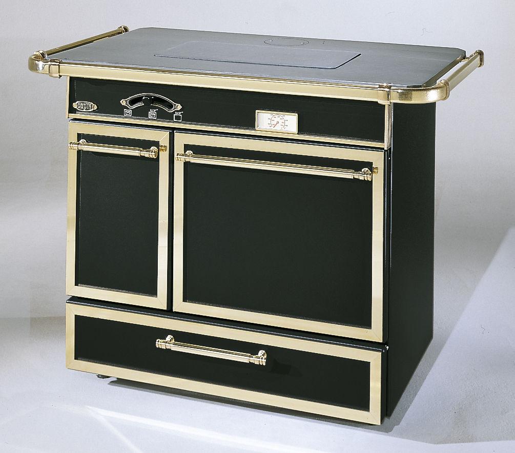 Piano De Cuisson Gaz Et Bois cuisinière à gaz / à bois / mixte / en fonte - chatelaine