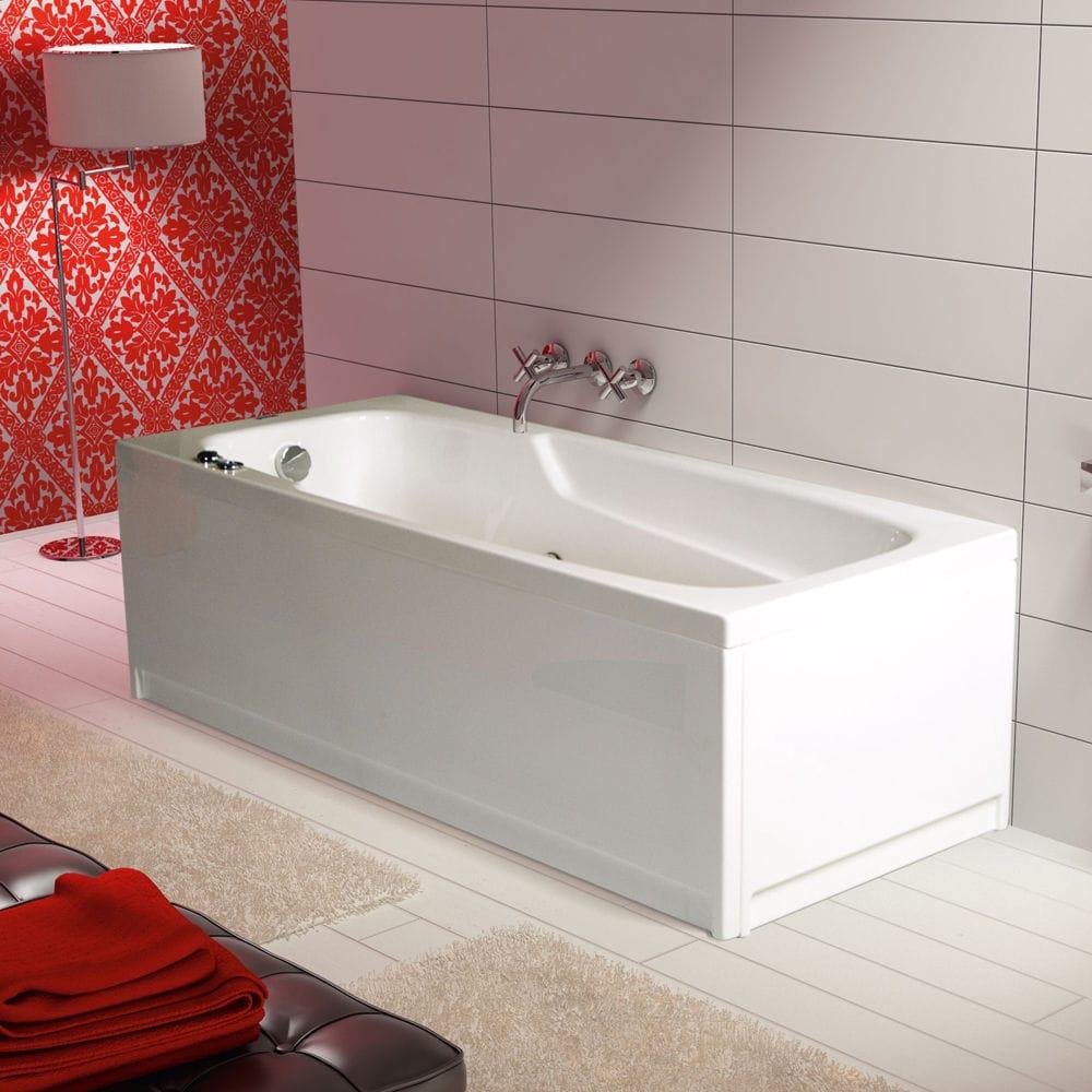 Baignoire Fibre De Pierre baignoire à poser / en acrylique / balnéo - positano