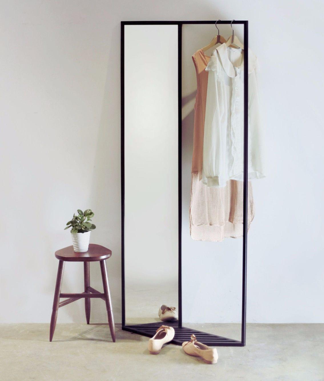 Miroir sur pied / avec rangement / contemporain ...