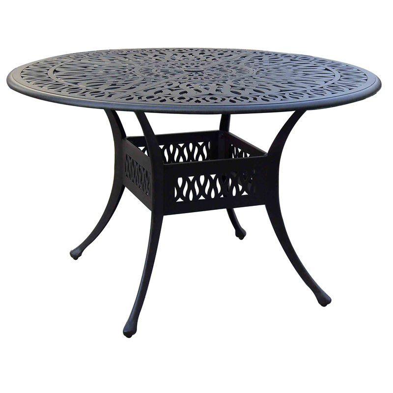 Table à manger contemporaine / en fonte d\'aluminium / ronde ...