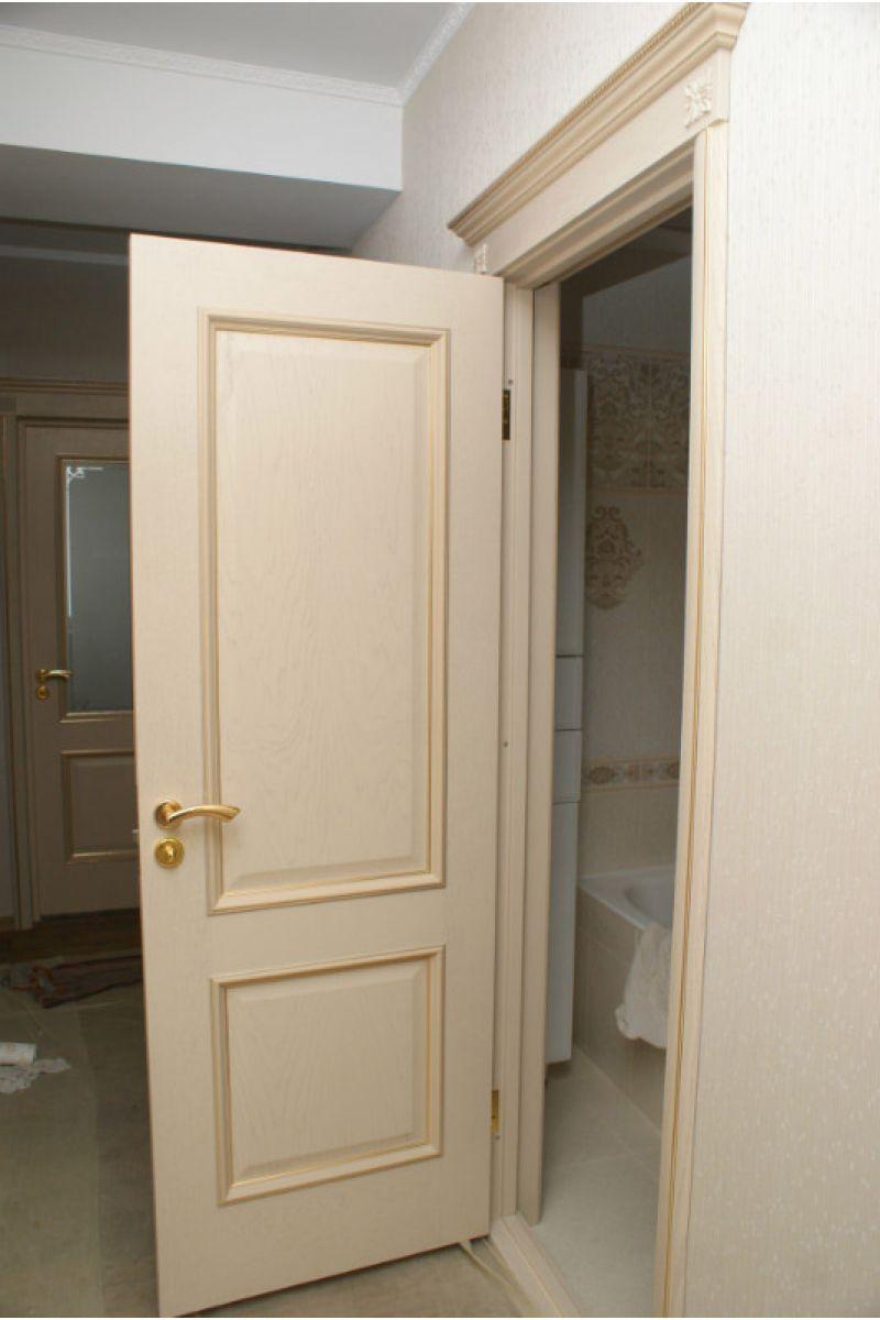 Decoration Porte Interieur Baguette porte d'intérieure / battante / en bois massif / semi-vitrée