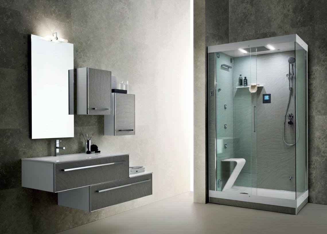 Salle de bain contemporaine / en bois / en verre - LA PIETRA ...