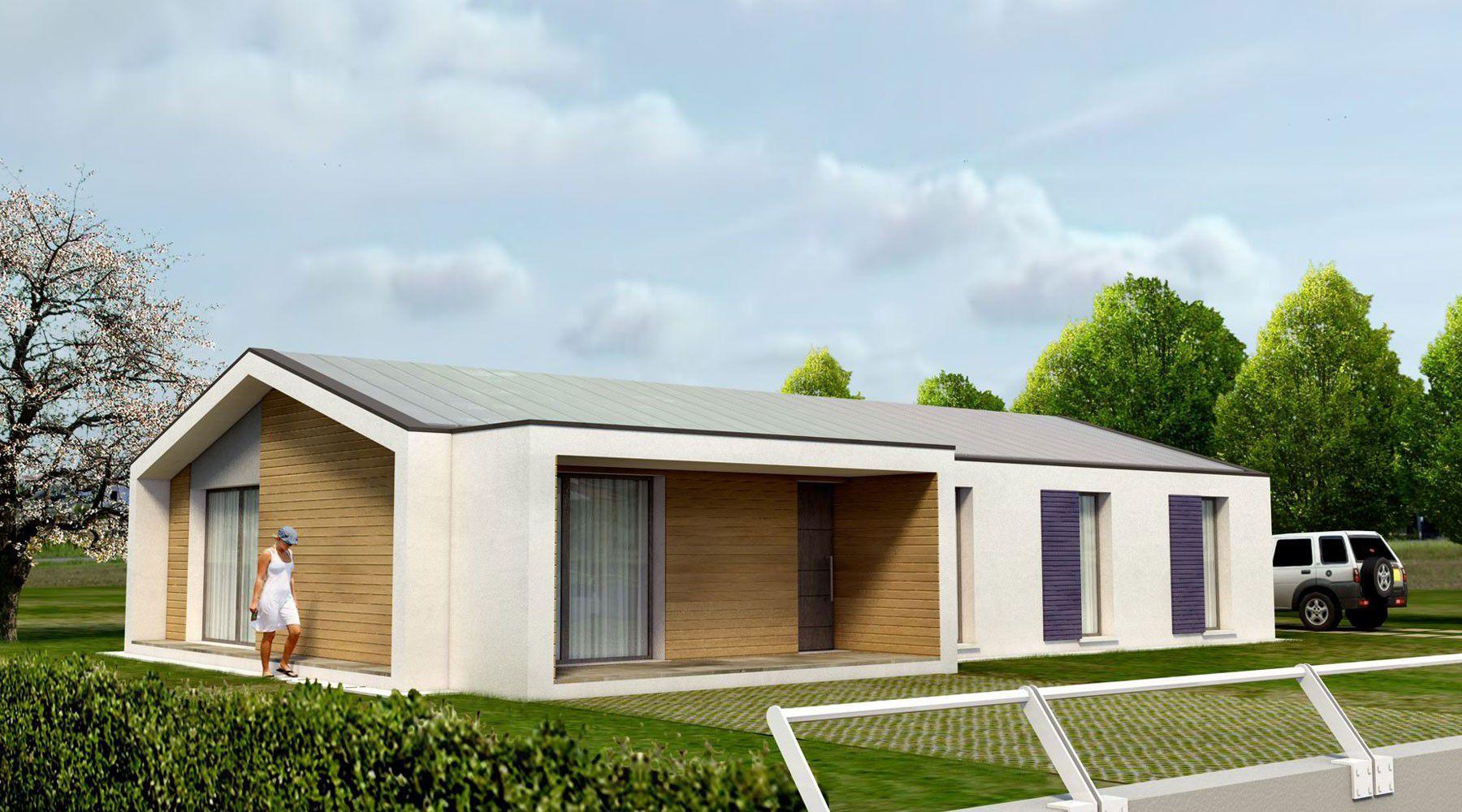 Maison Ossature Bois Bordeaux maison préfabriquée / modulaire / contemporaine / à ossature