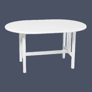 Table contemporaine / en plastique / ovale / de jardin ...