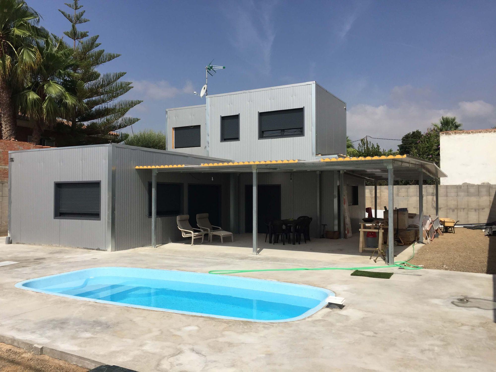 Maison Ossature Métallique Contemporaine structure métallique pour maison / en acier galvanisé