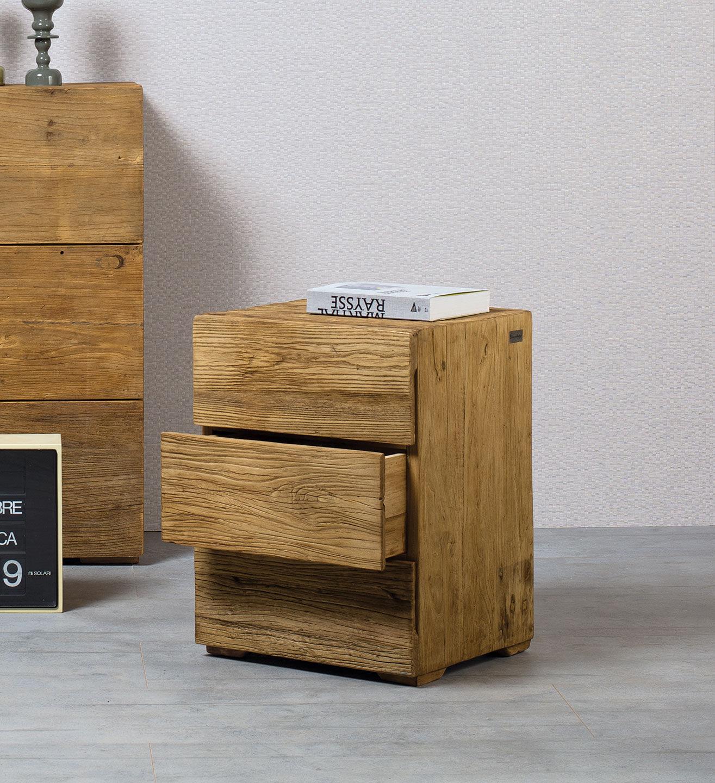 Table de chevet contemporaine / en orme / rectangulaire ...