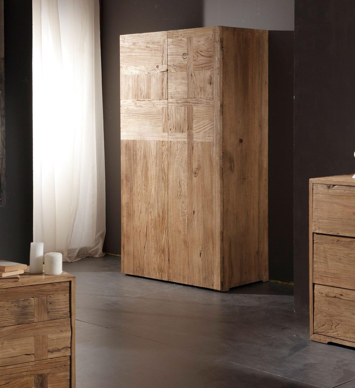 Armoire contemporaine / en bois massif / à porte battante ...