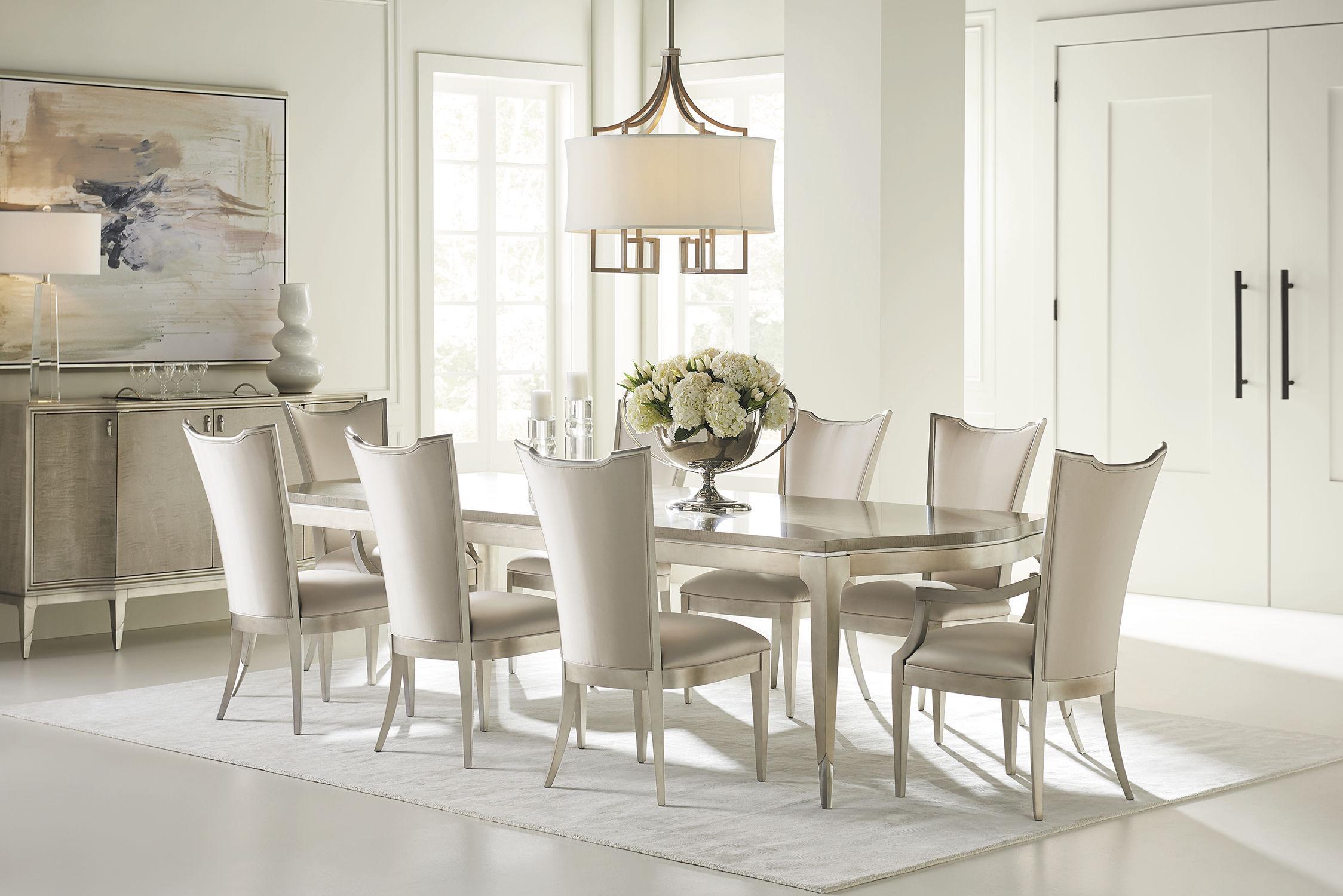 salle classique VERY tapissée APPEALING standard CARACOLE avec accoudoirs de à piètement CARACOLE Chaise CLASSIC manger UzVpSLMGjq
