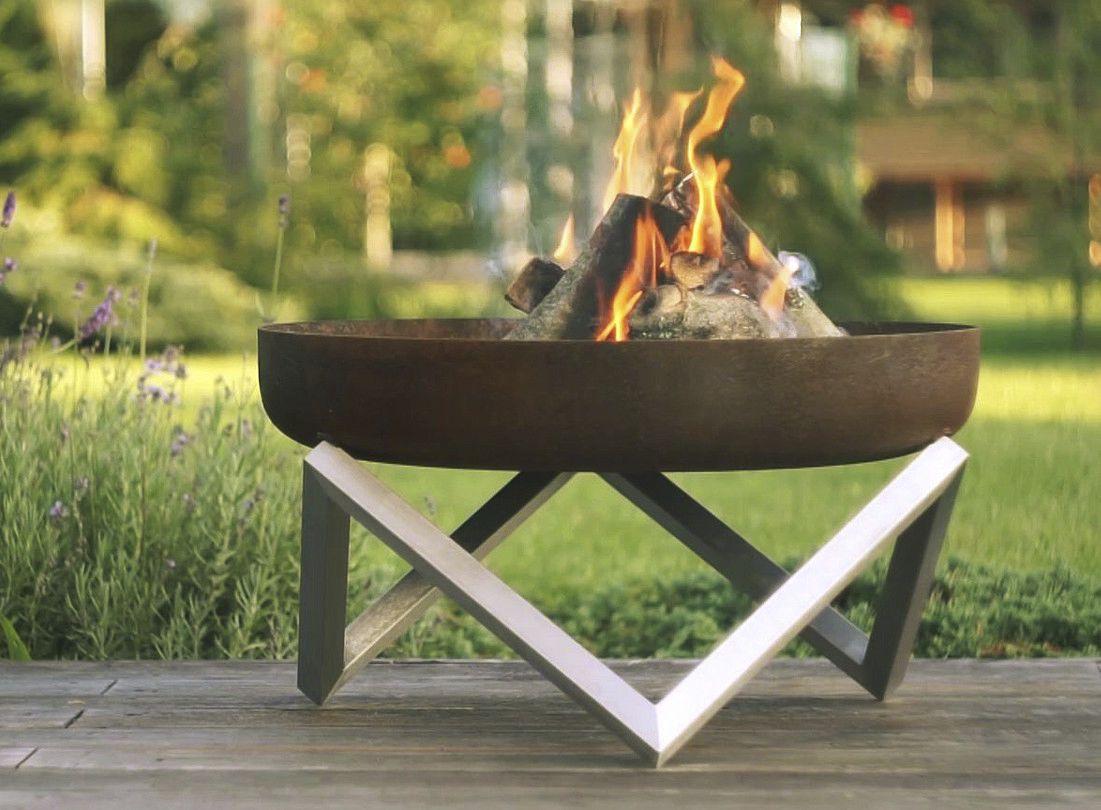 Brasero de jardin à bois / en inox / en acier au carbone ...