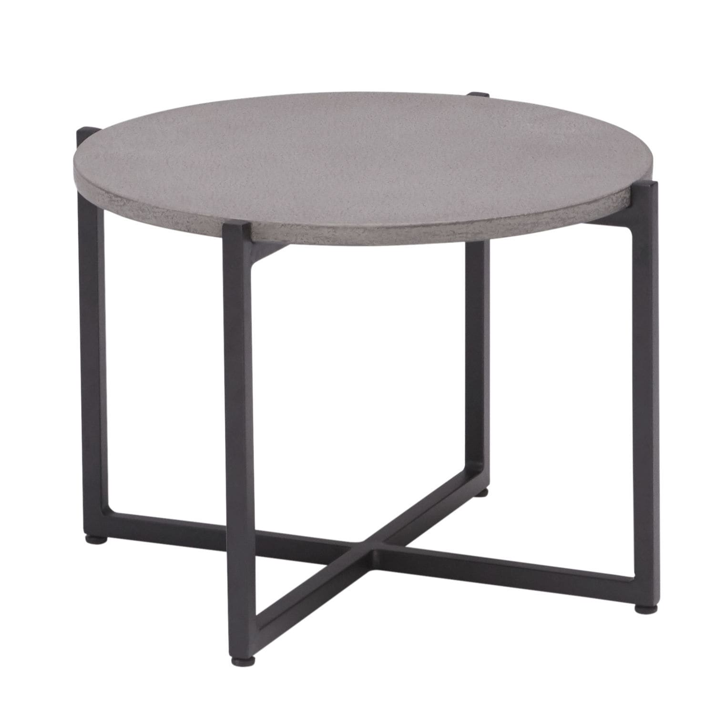 Table d\'appoint contemporaine / en aluminium / ronde / de ...