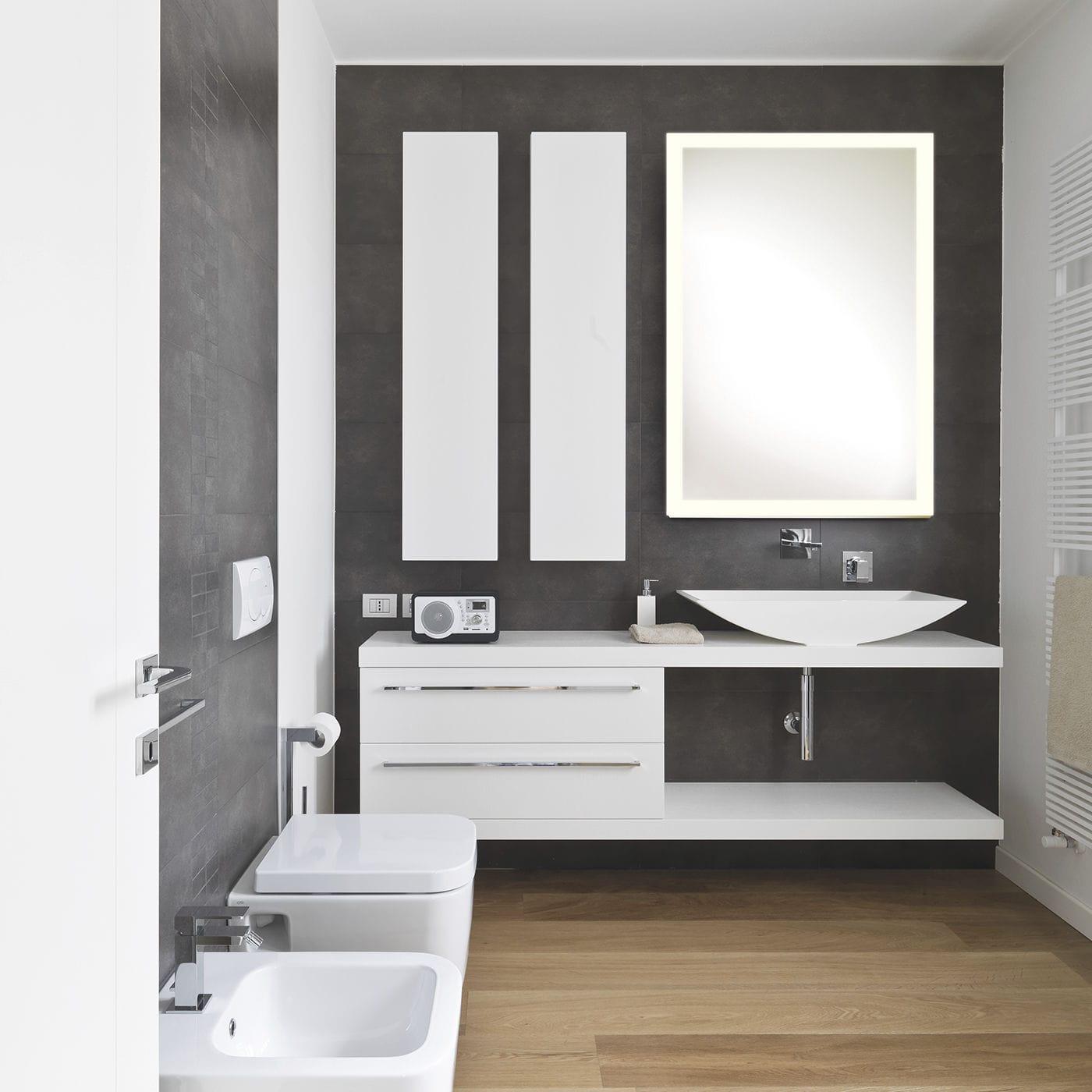 SIDELIGHT - Miroir de salle de bain mural / lumineux (led) / contemporain /  rectangulaire by Top Light GmbH & Co. KG.   ArchiExpo