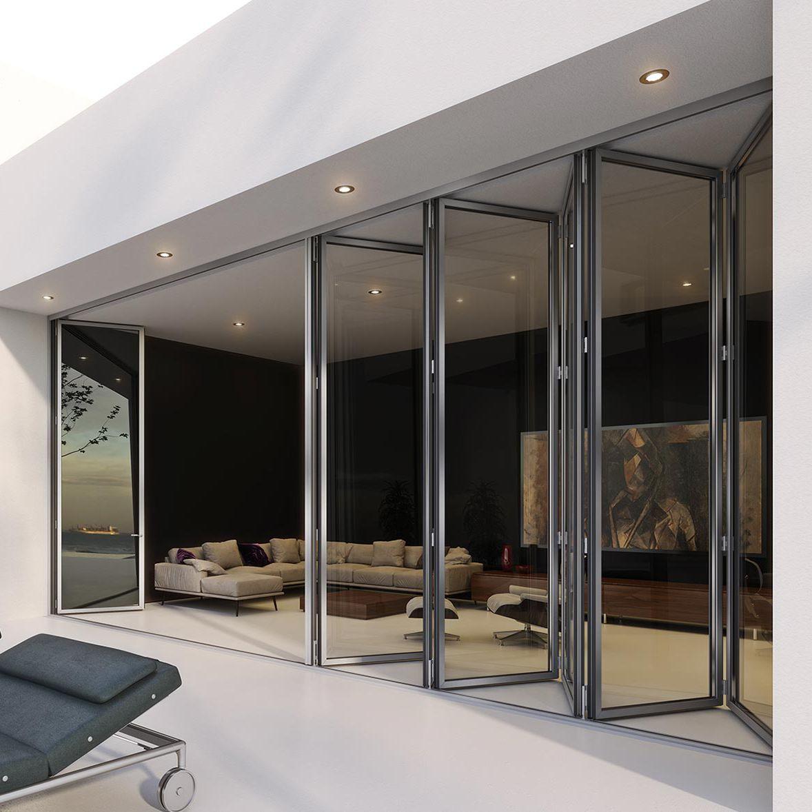 Baie Vitrée Pliante En Accordéon Prix baie vitrée accordéon / coulissante / en aluminium / à double vitrage 3700  rabel sa