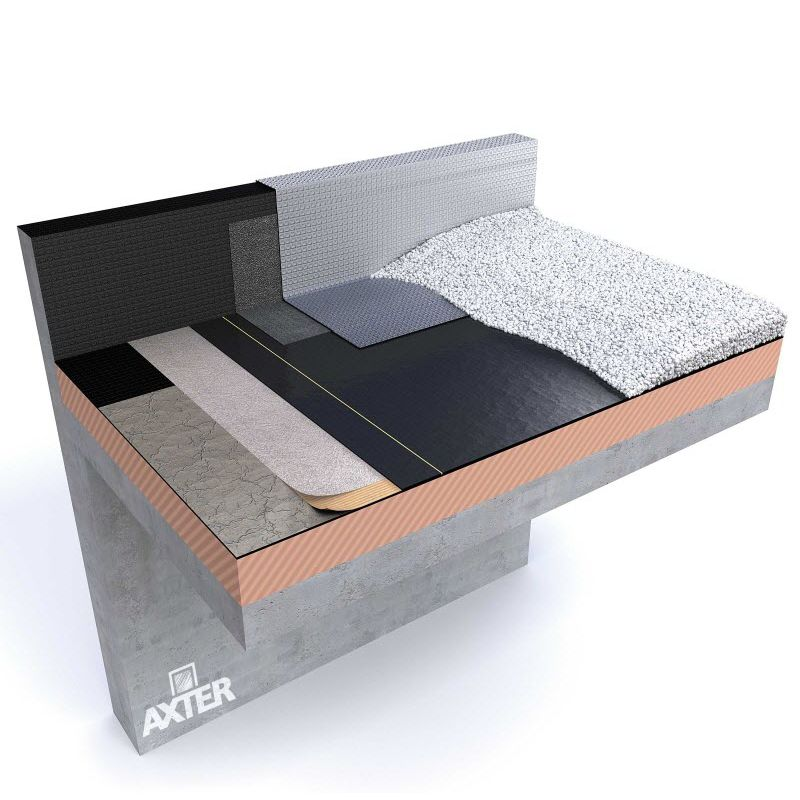 Membrane bitumineuse pour toiture-terrasse - FORCE DALLE - AXTER