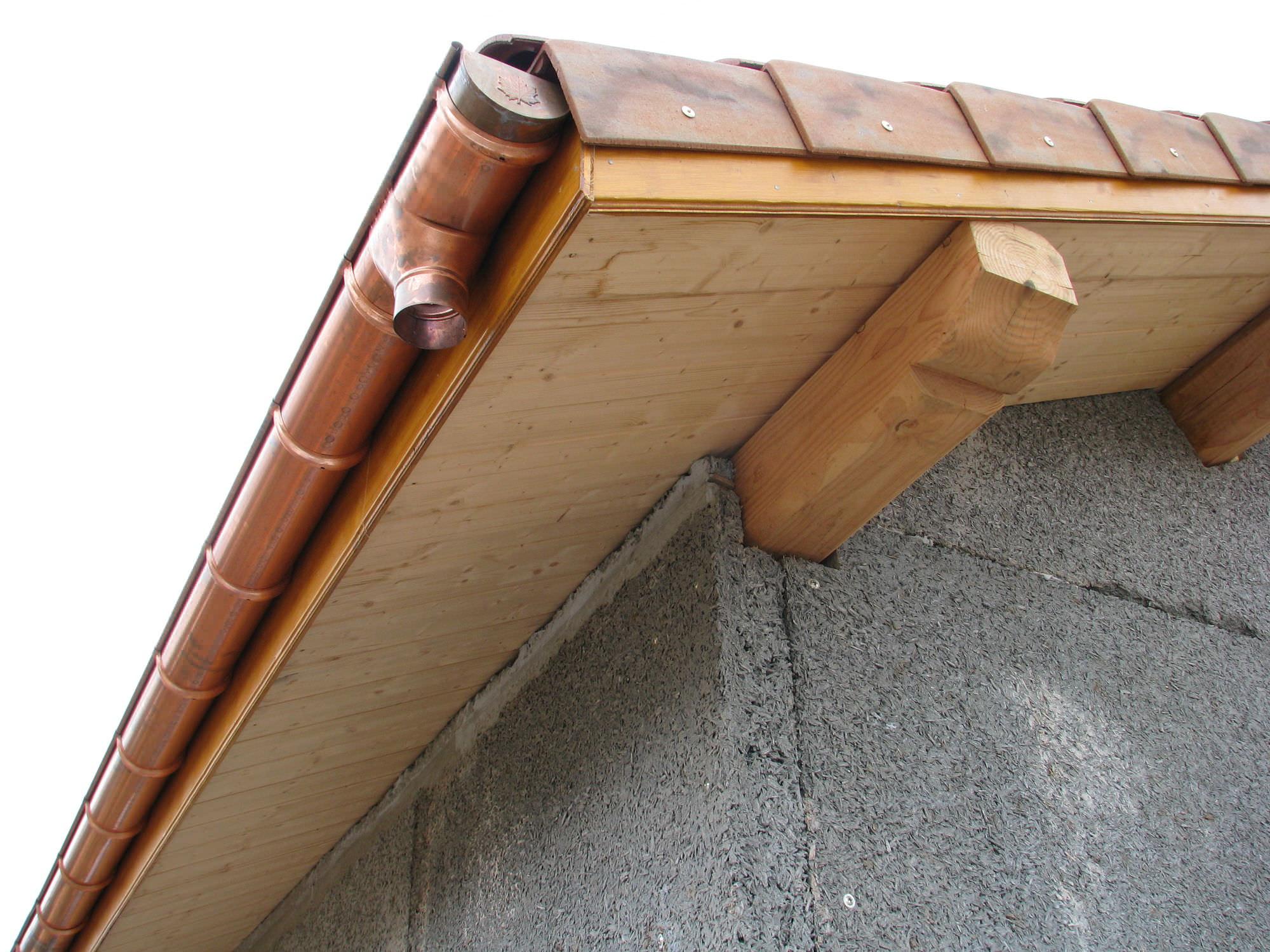 Panneau de sous-toiture autoporteur / âme en polystyrène / sous-face en bois - WOODTOUCH ...