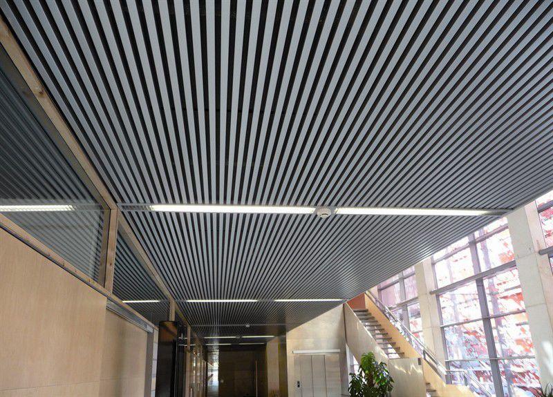 Nouvel Faux-plafond en aluminium / en acier / en lames / acoustique - CBI OY-38