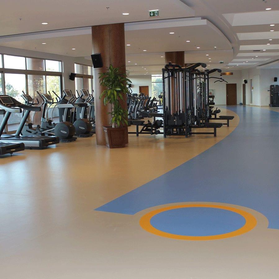 Sol Pour Salle De Sport sol sportif en vinyle / d'intérieur / pour salle multisport