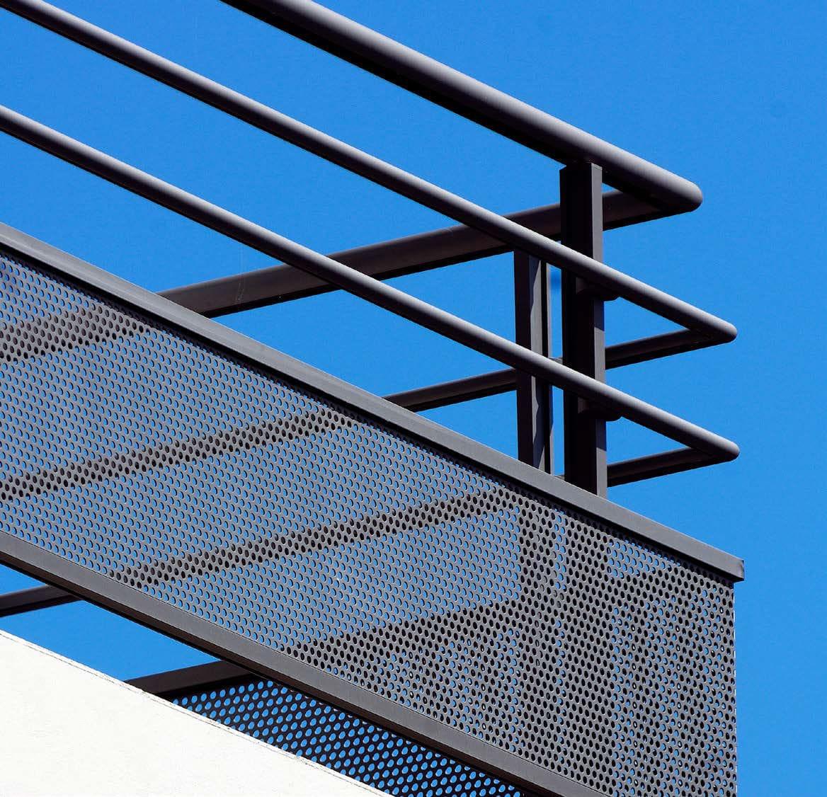 Espacement Entre Barreaux Garde Corps garde-corps en verre / en aluminium / à barreaux / d