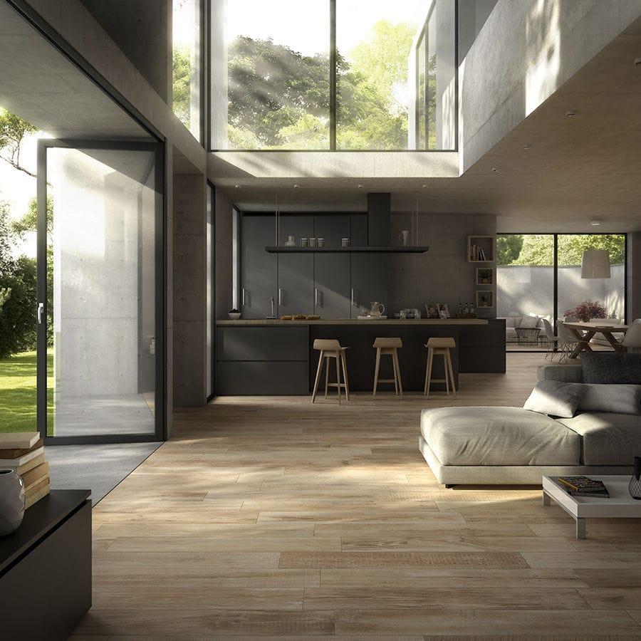 Carrelage aspect parquet - CROSS WOOD : BUFF - Panaria Ceramica - d'intérieur / d'extérieur / mural