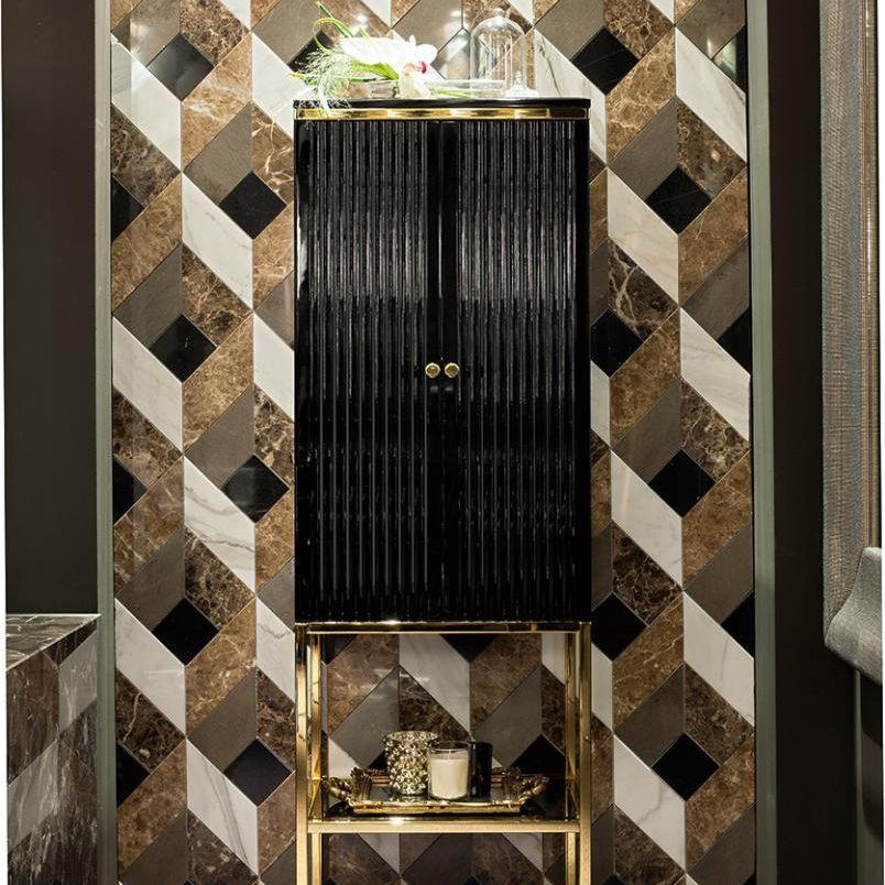 Meuble colonne de salle de bain / Art Déco ACADEMY Oasis Group srl