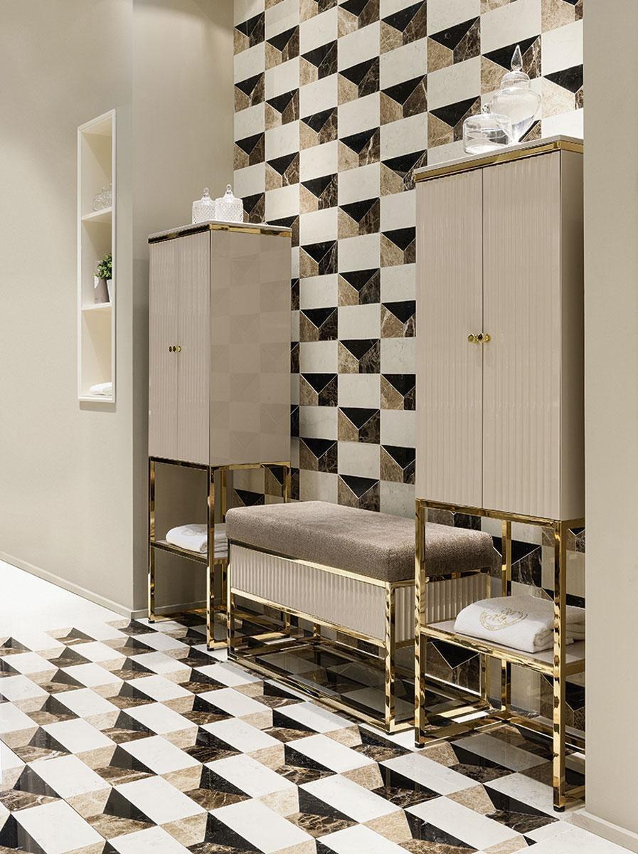 Meuble colonne de salle de bain / Art Déco - ACADEMY - Oasis ...