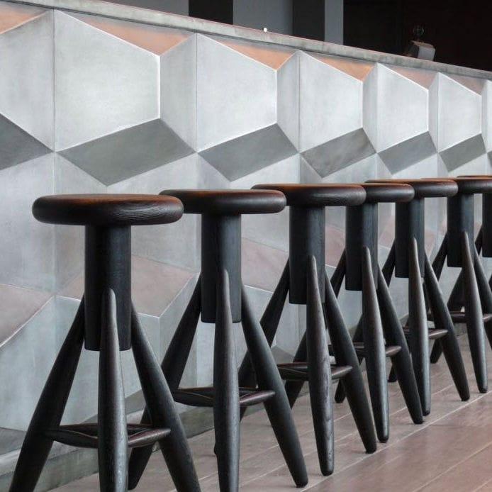 Chêne Laqué Tabouret En Bois Contemporain Bar De Eero Par POnwXk80