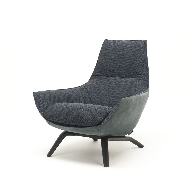 Fauteuil contemporain / en tissu / en cuir / en acier ...