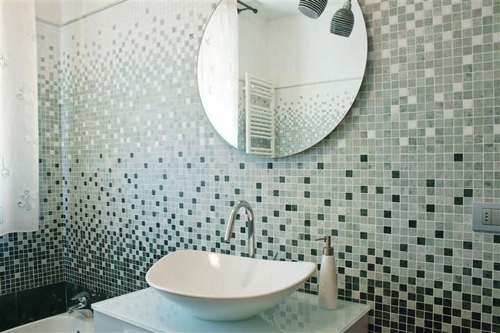 Mosaïque d\'intérieur / de salle de bain / murale / en marbre ...
