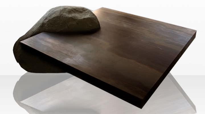 Table Basse Contemporaine En Pierre Carree Elegant