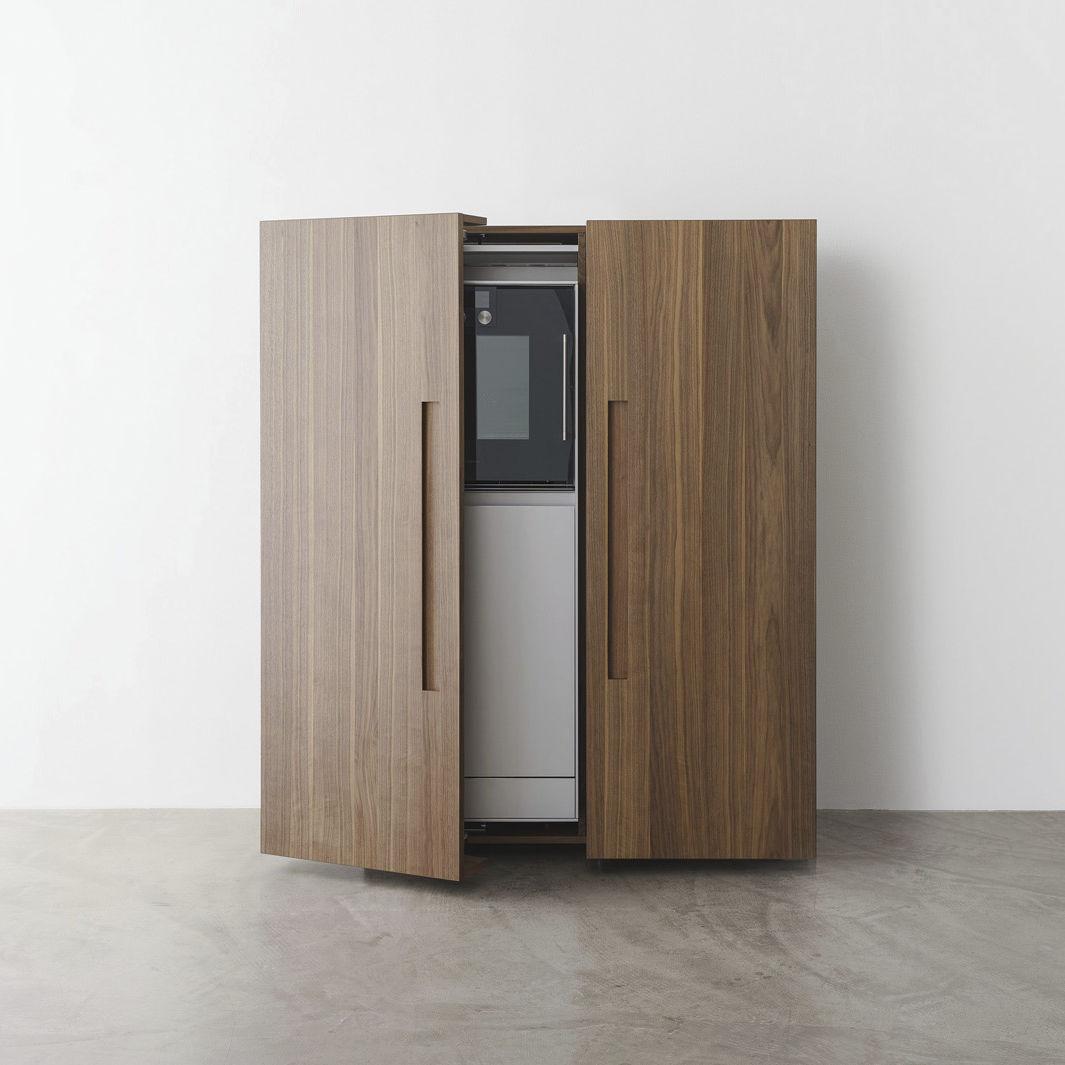 Rangement Pour Le Bois armoire de rangement pour cuisine contemporain / en bois