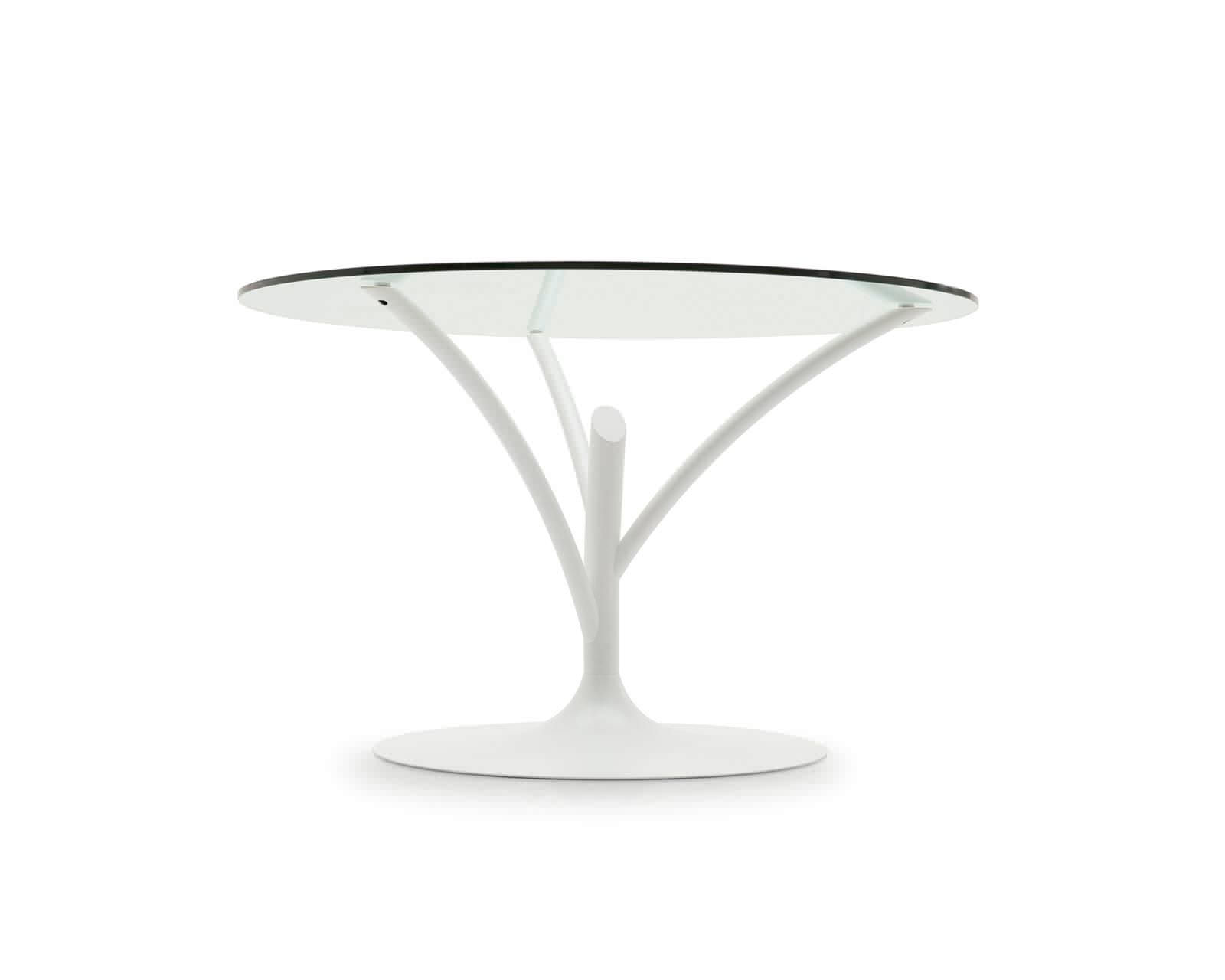 manger à contemporaine en ronde en métal Table verre HWED9I2Y