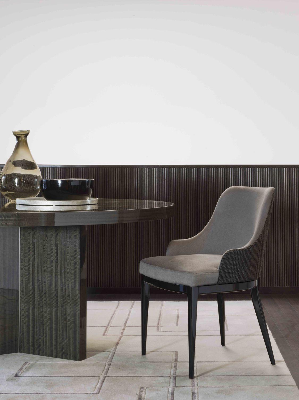 Salle A Manger Paris chaise de salle à manger contemporaine / tapissée / avec