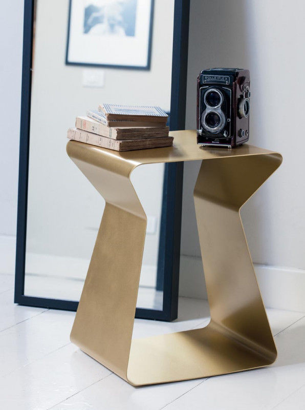 Table D Appoint Casa.Table D Appoint Contemporaine En Metal Carree Blanche