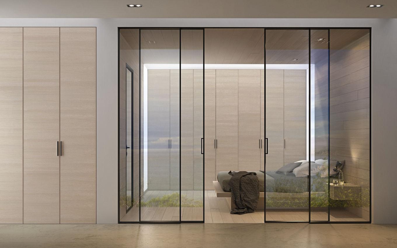 Portes Coulissantes Vitrées Intérieures porte vitrée / d'intérieure / coulissante / en aluminium - g