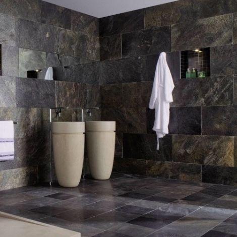 Carrelage d\'intérieur / de salle de bain / mural / en ardoise ...