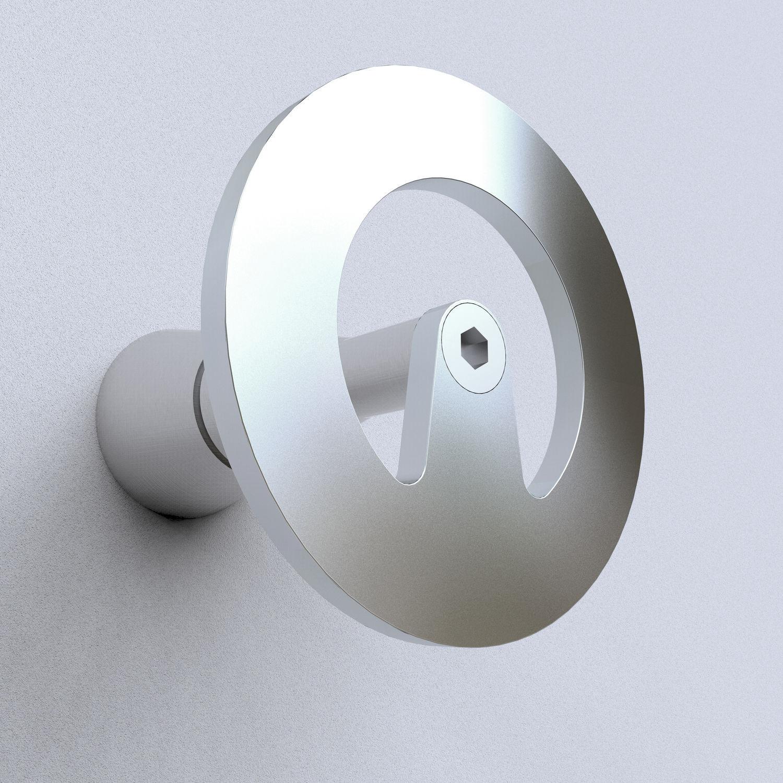 Patère design minimaliste - ORBIT 20 - INSILVIS - en acier