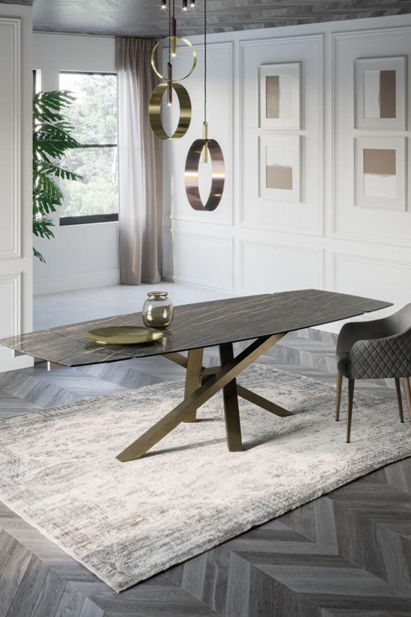 Table Contemporaine / En Verre / En Céramique / Avec