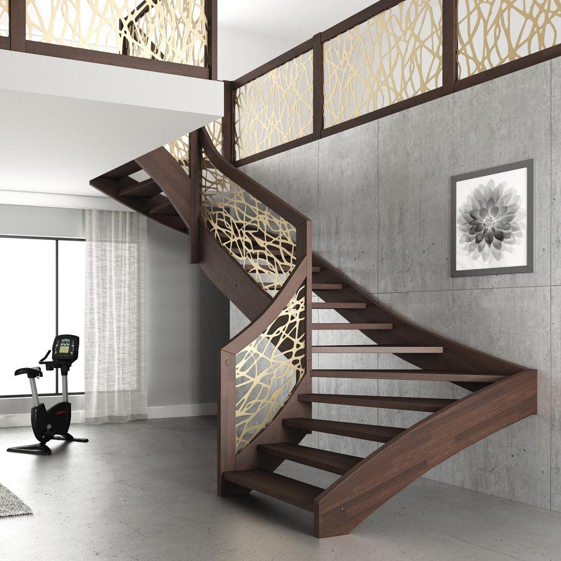Ajouter Des Contre Marche Escalier escalier demi-tournant / structure en bois / marche en bois / sans  contremarche mantis mobirolo
