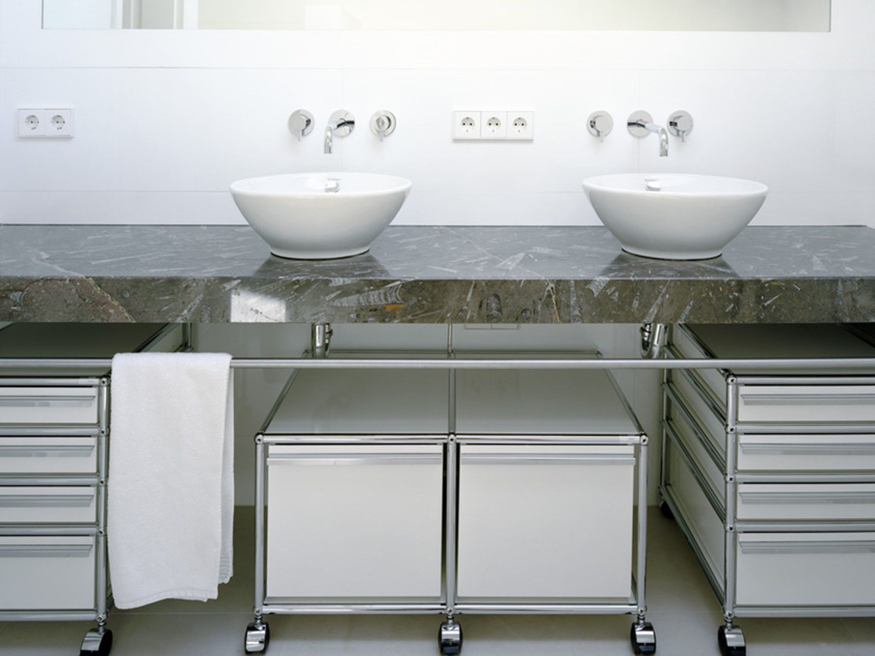 Mobel Salle De Bain meuble bas de salle de bain / à poser - haller - usm modular