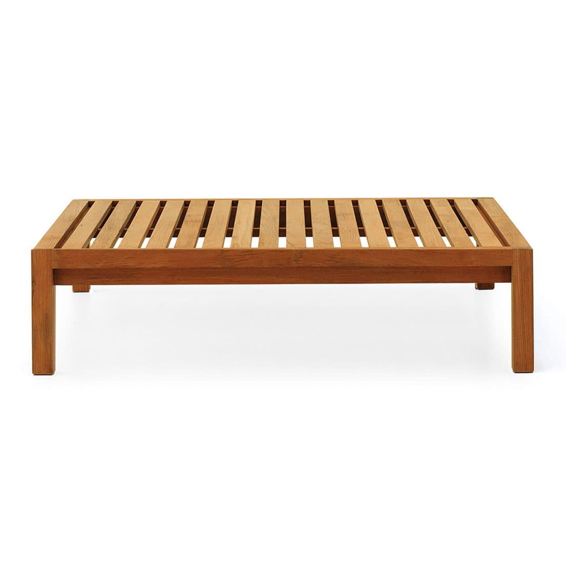 Table basse contemporaine / en teck / rectangulaire / de ...