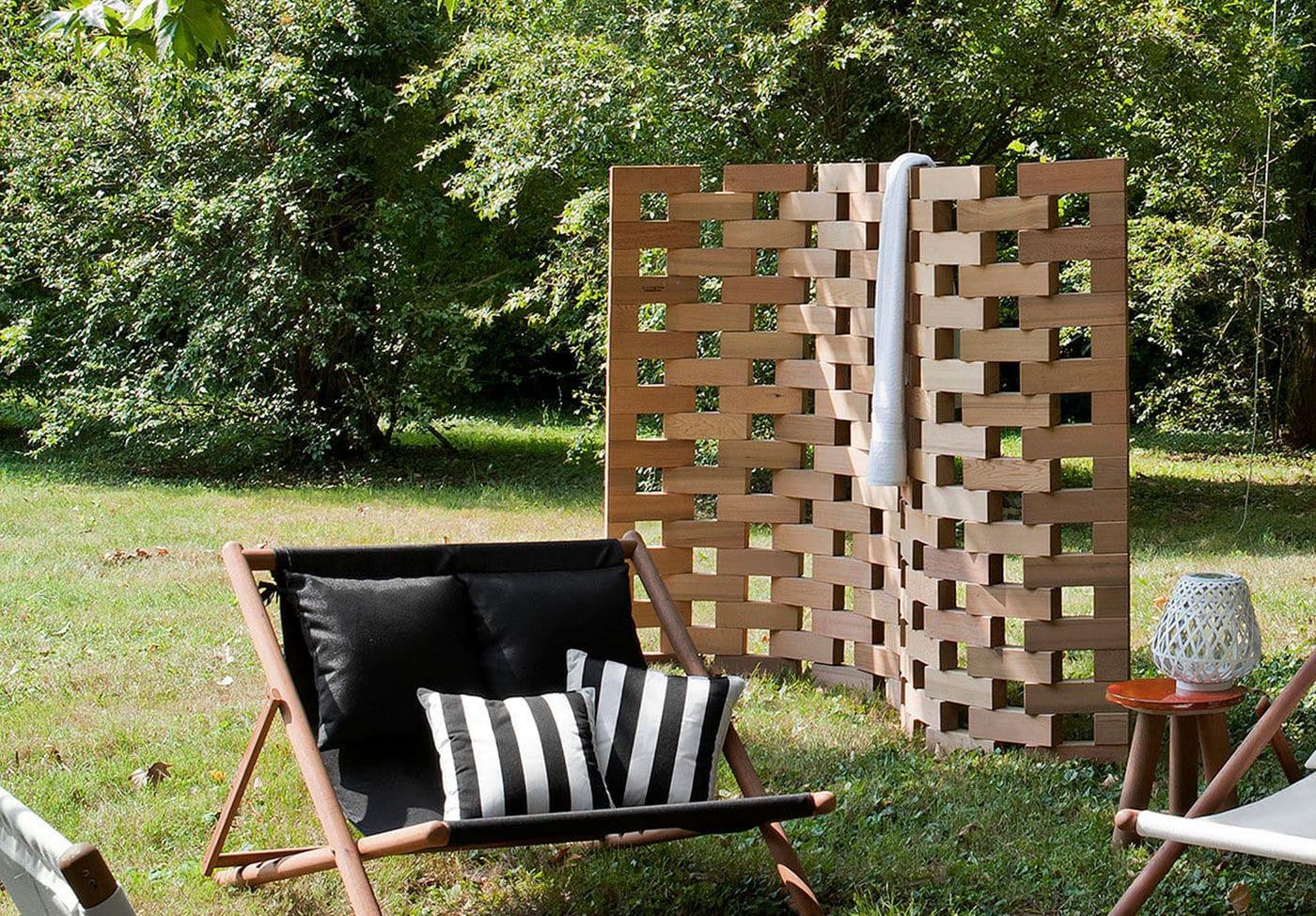 Paravent Contemporain En Bois De Jardin Zen By