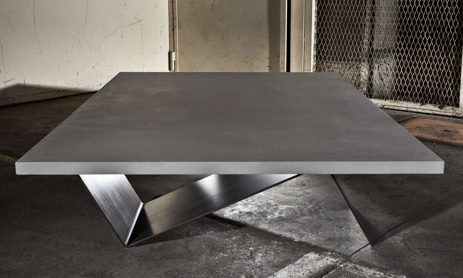 Table basse contemporaine / en acier / en béton / en ...